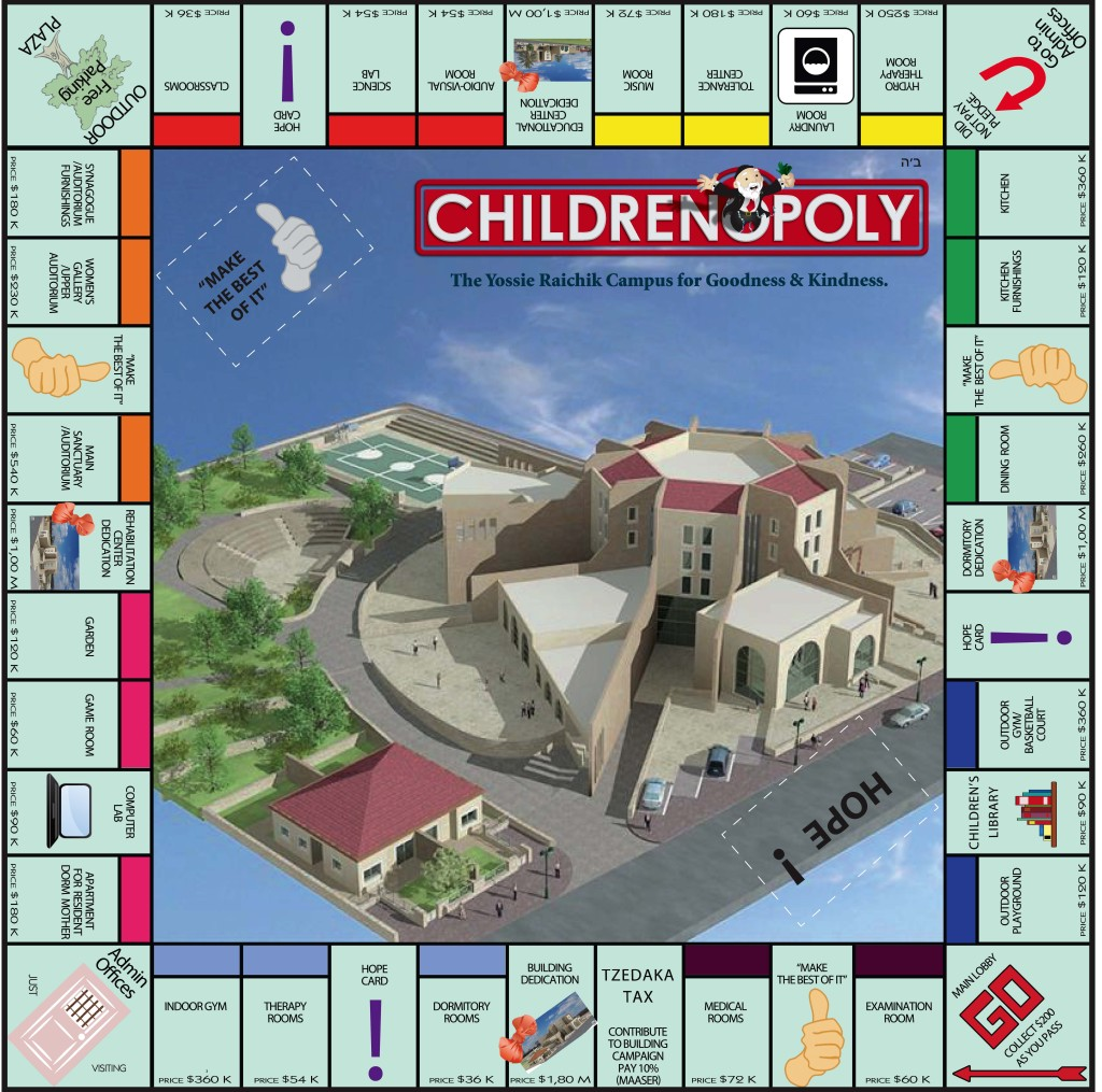 Gameboard 18 x 18 Double Fold -Childrenopoly